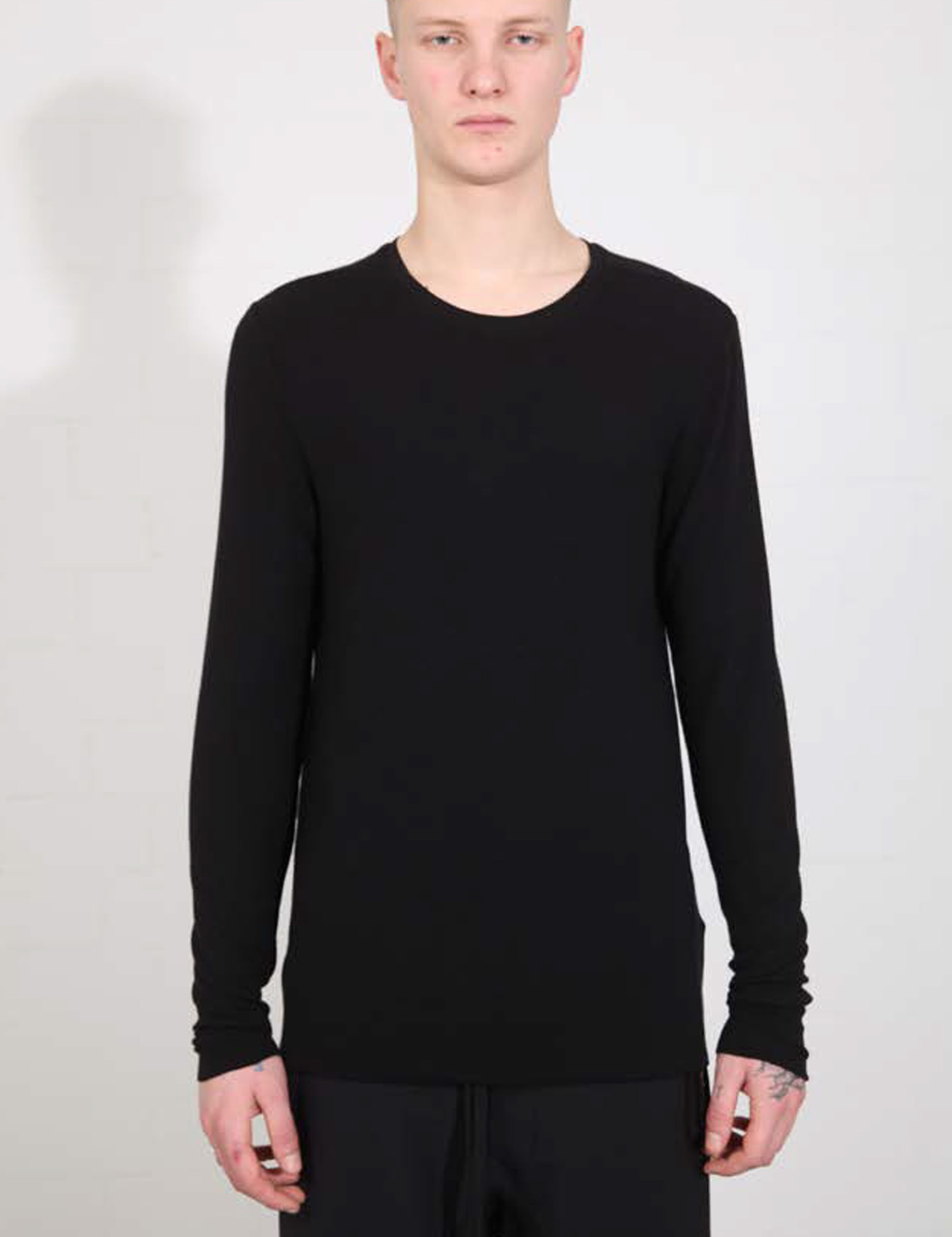 RIBBED T-SHIRT_M TS  527-0-1_BLACK
