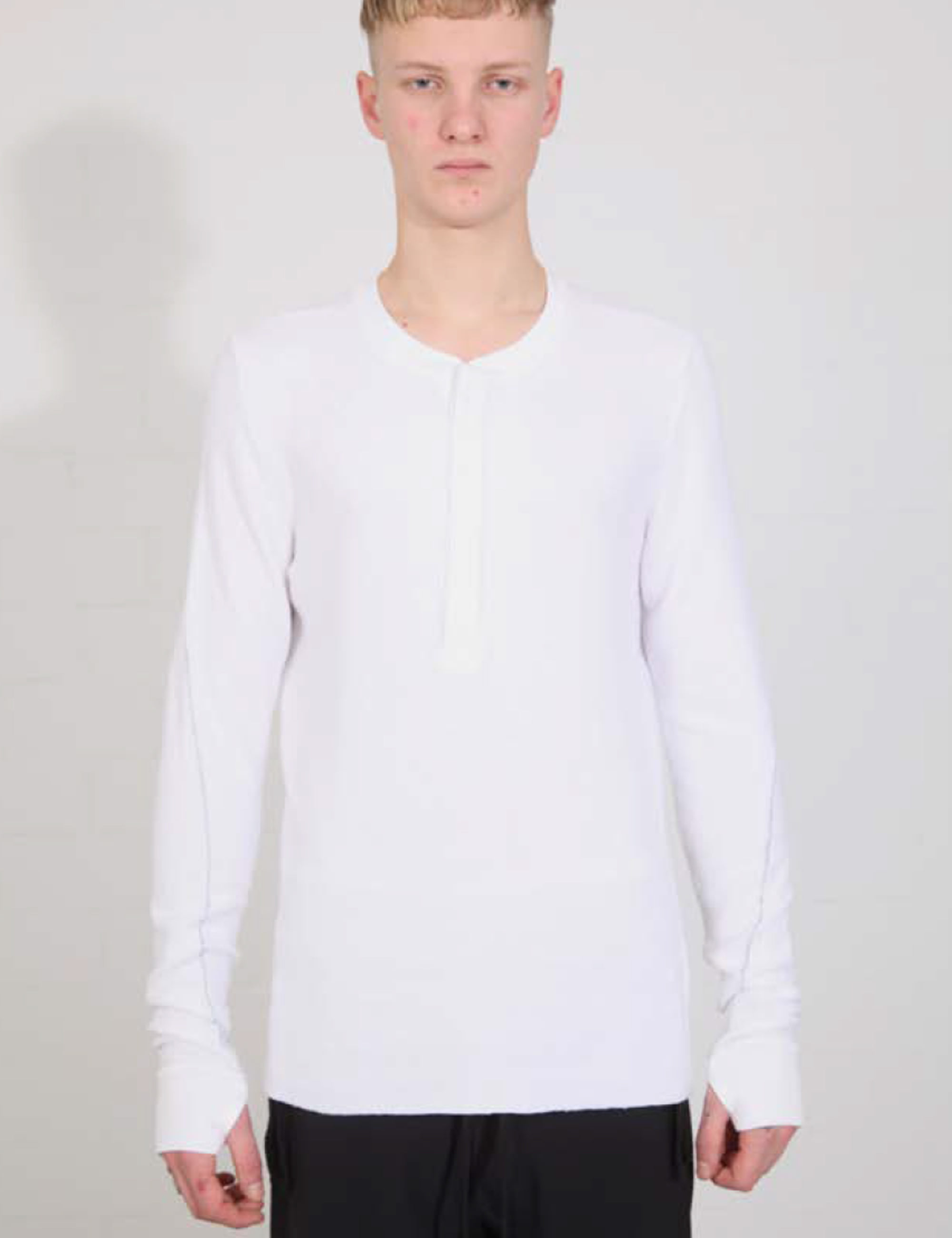 HENLY NECK T-SHIRT_M TS  509-0-1_WHITE