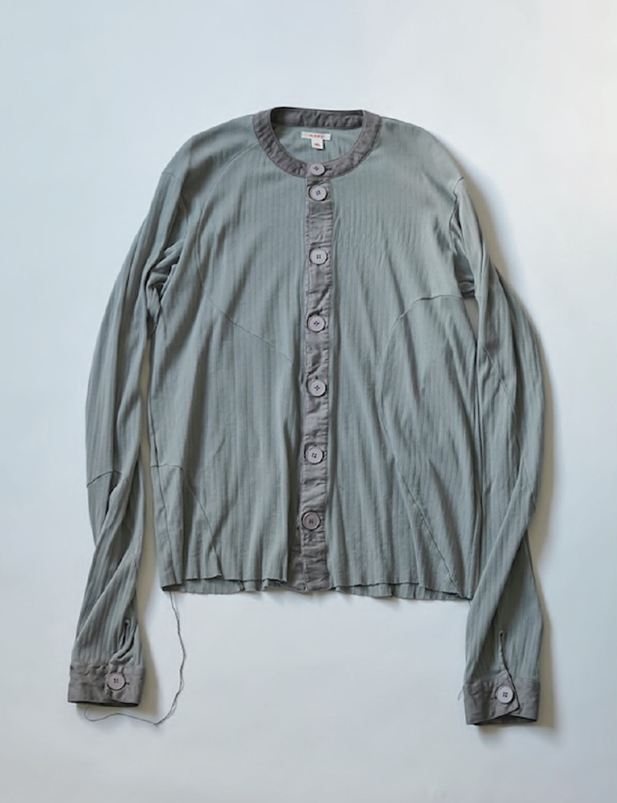 WAVING PATTERN CARDIGAN_SMOKE GREY
