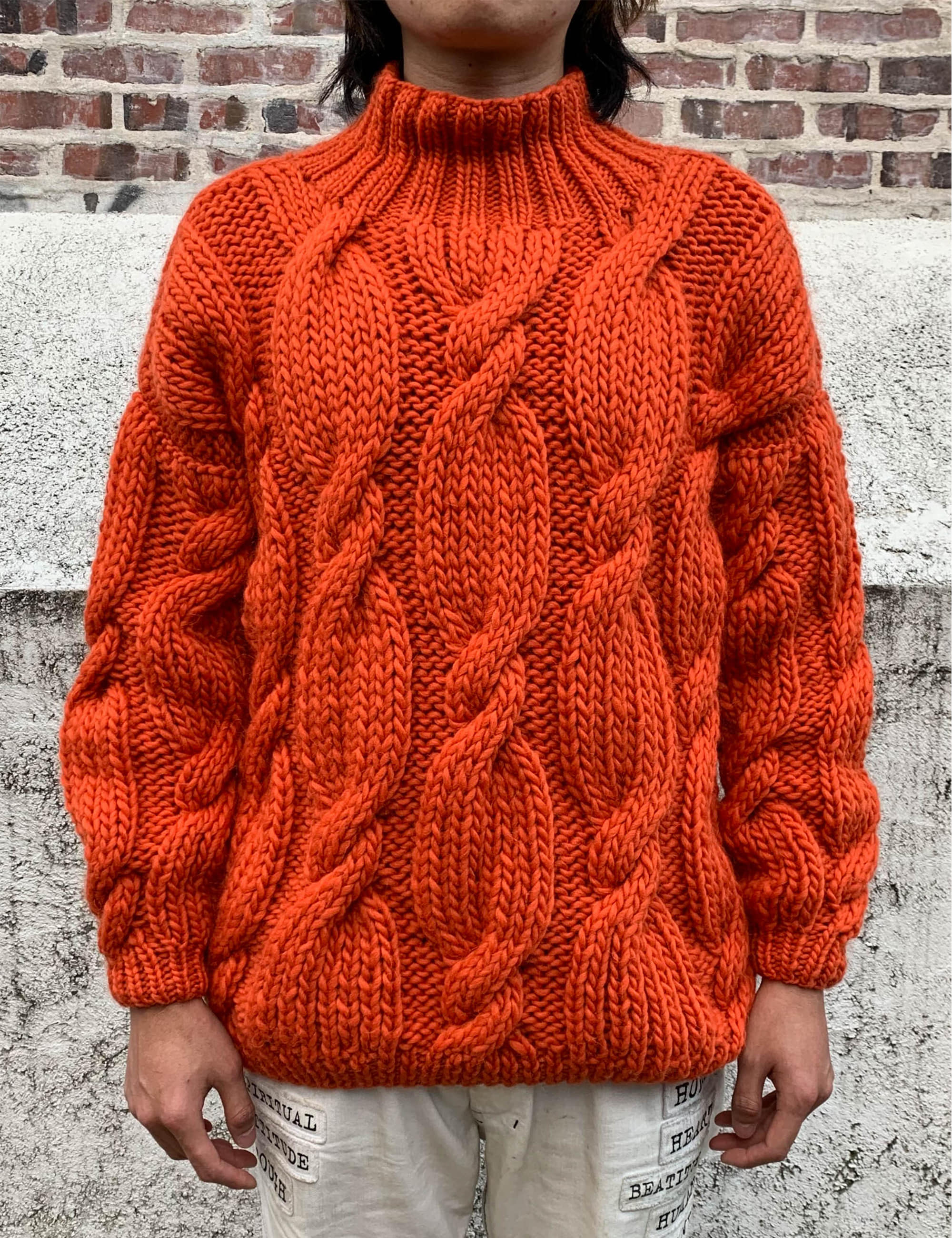 """ONION"" ROLLNECK SWEATER_CARROT"