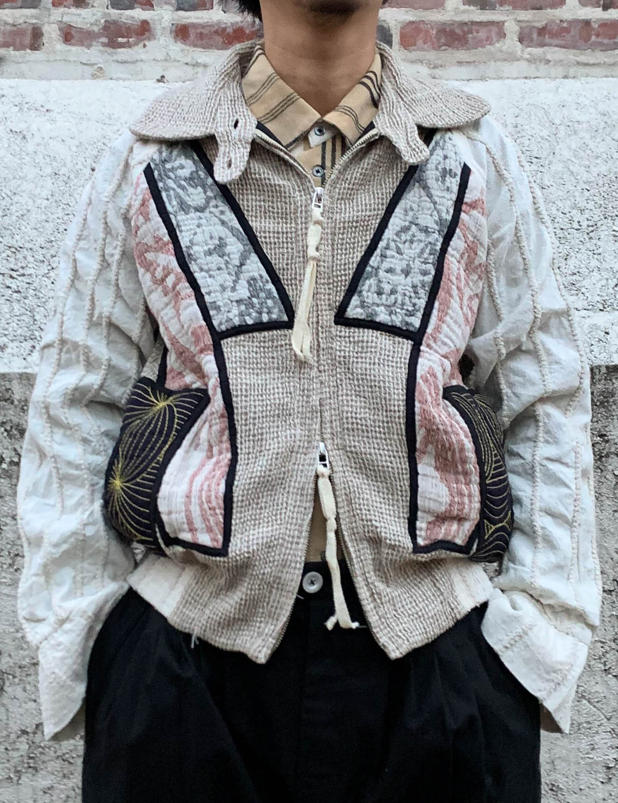 ART TO WEAR PATCHWORK BLOUSON_KINARI