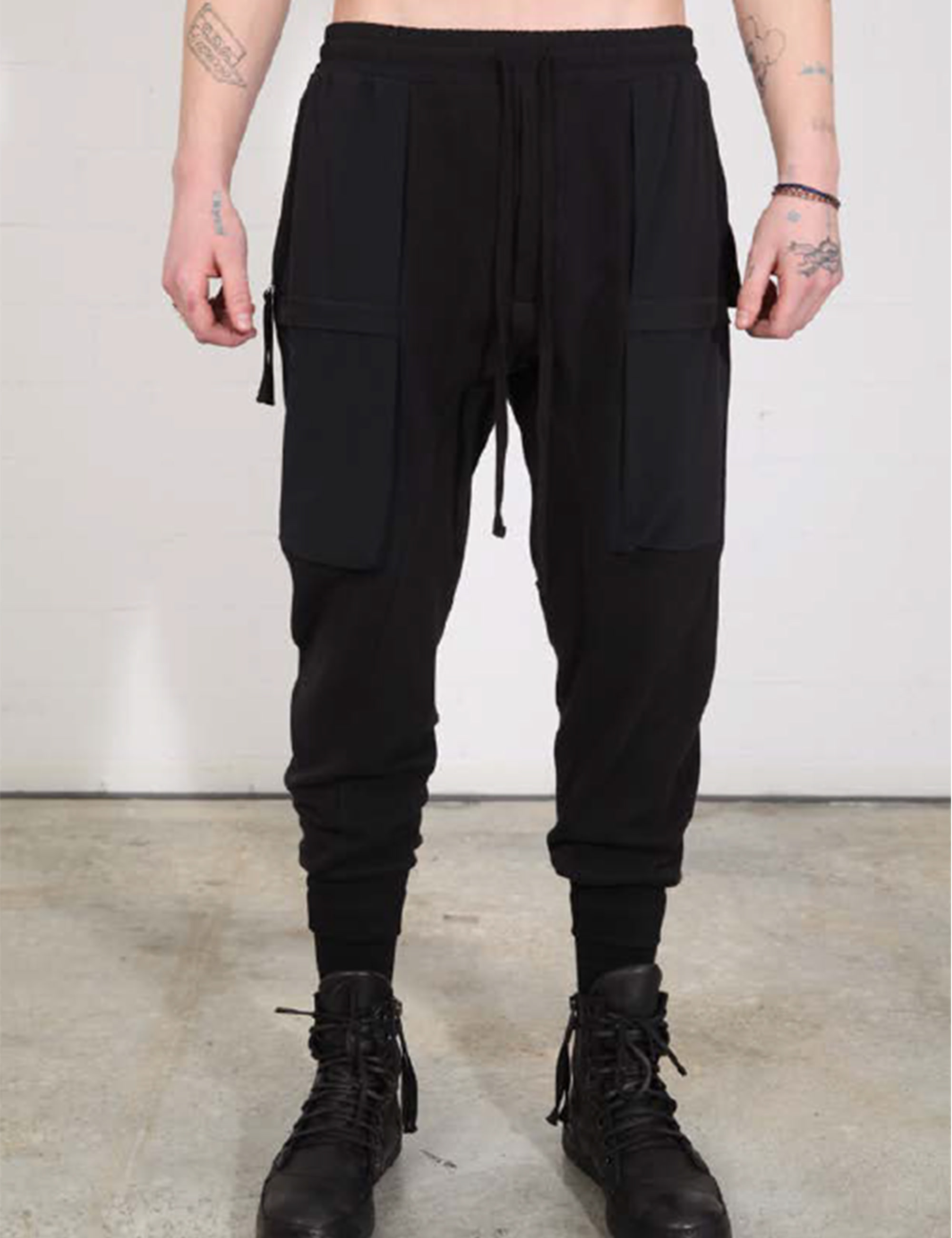 MEN HOSE/TROUSERS_M ST 195-0-1_BLACK