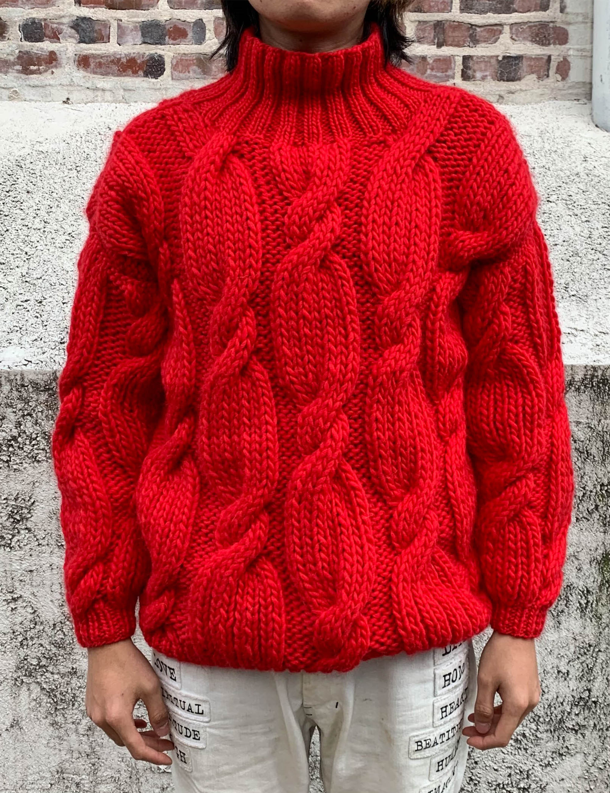"""ONION"" ROLLNECK SWEATER_RED"