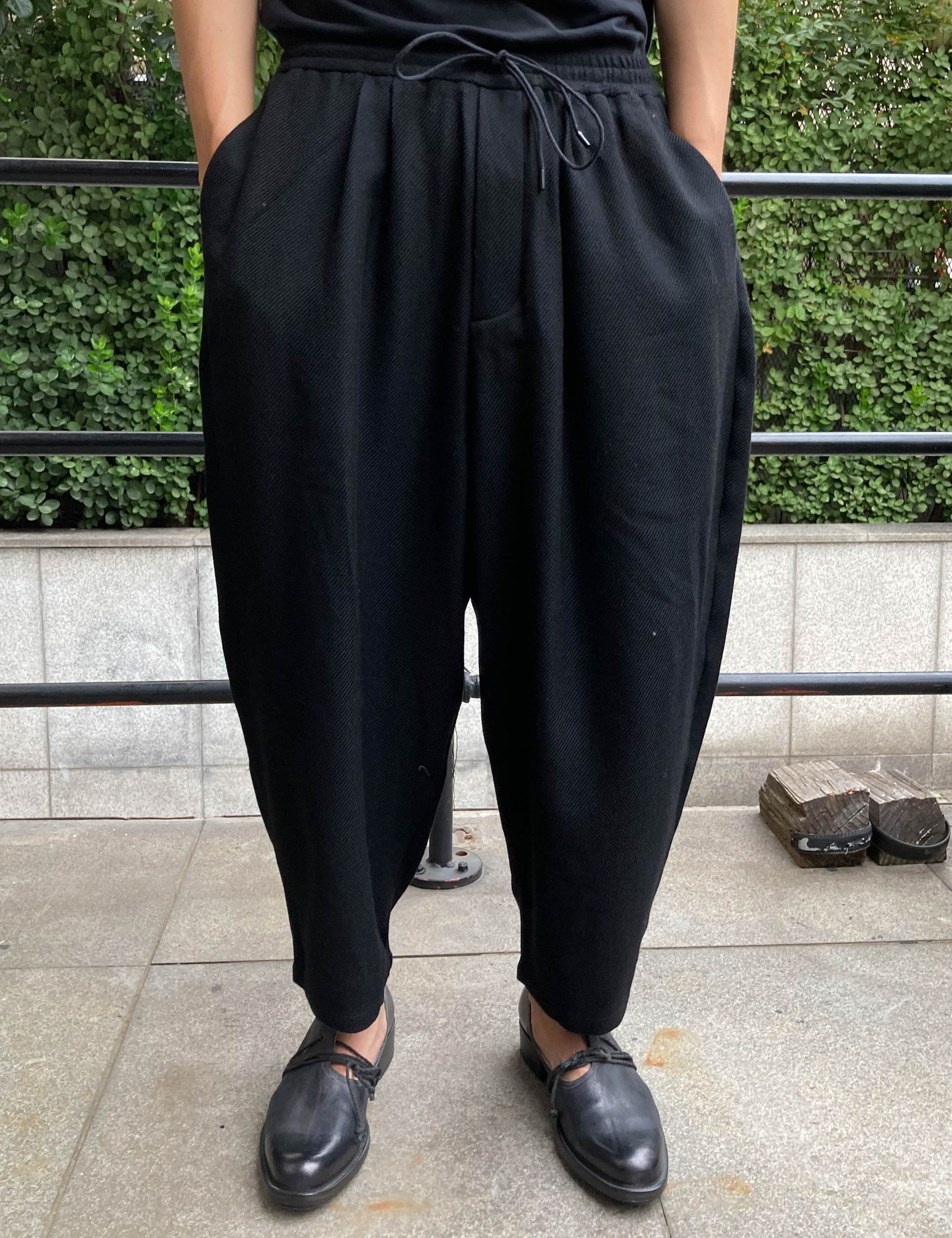 RELAXED TROUSERS_BLACK