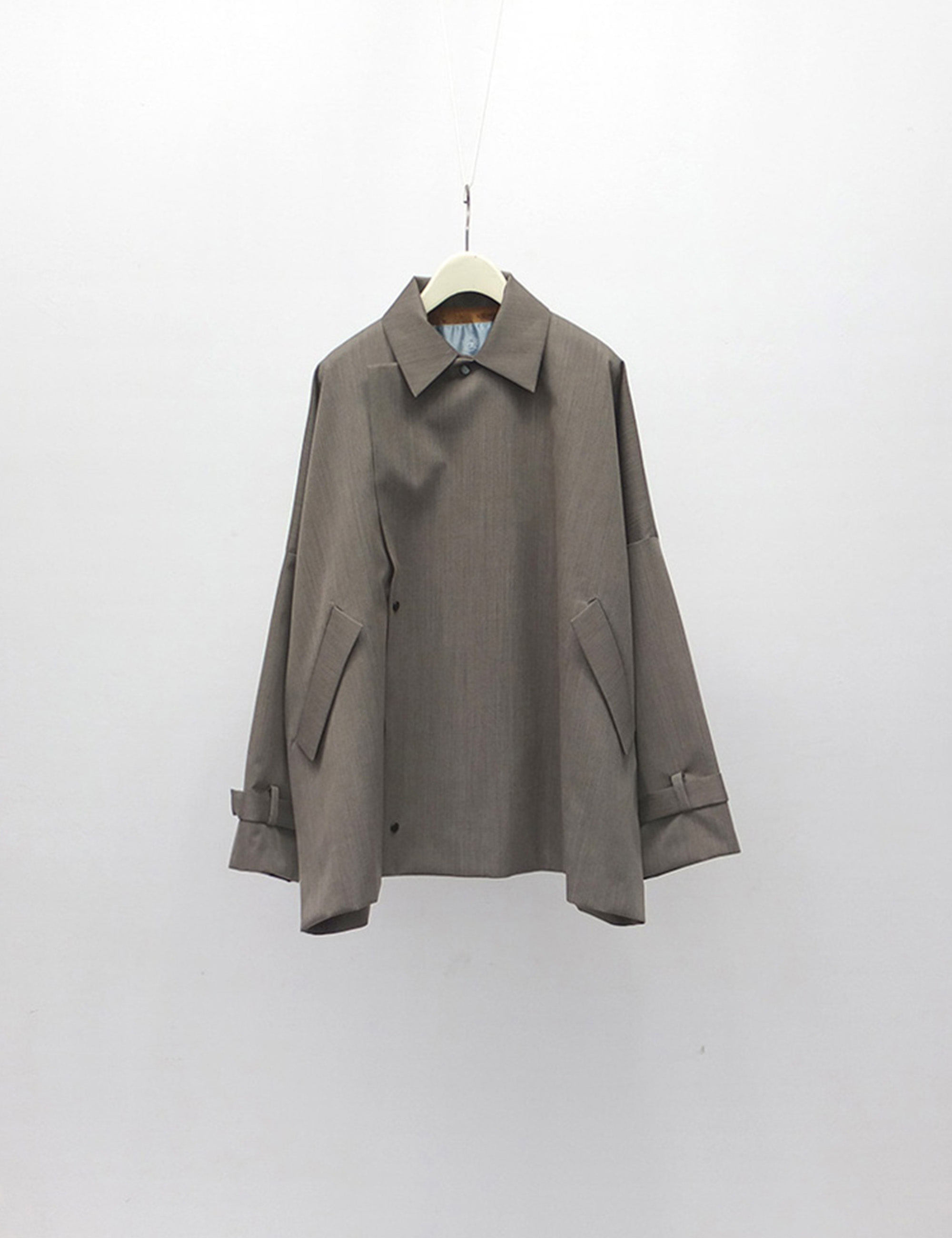 YOSOIKI SHORT COAT_GREY BEIGE