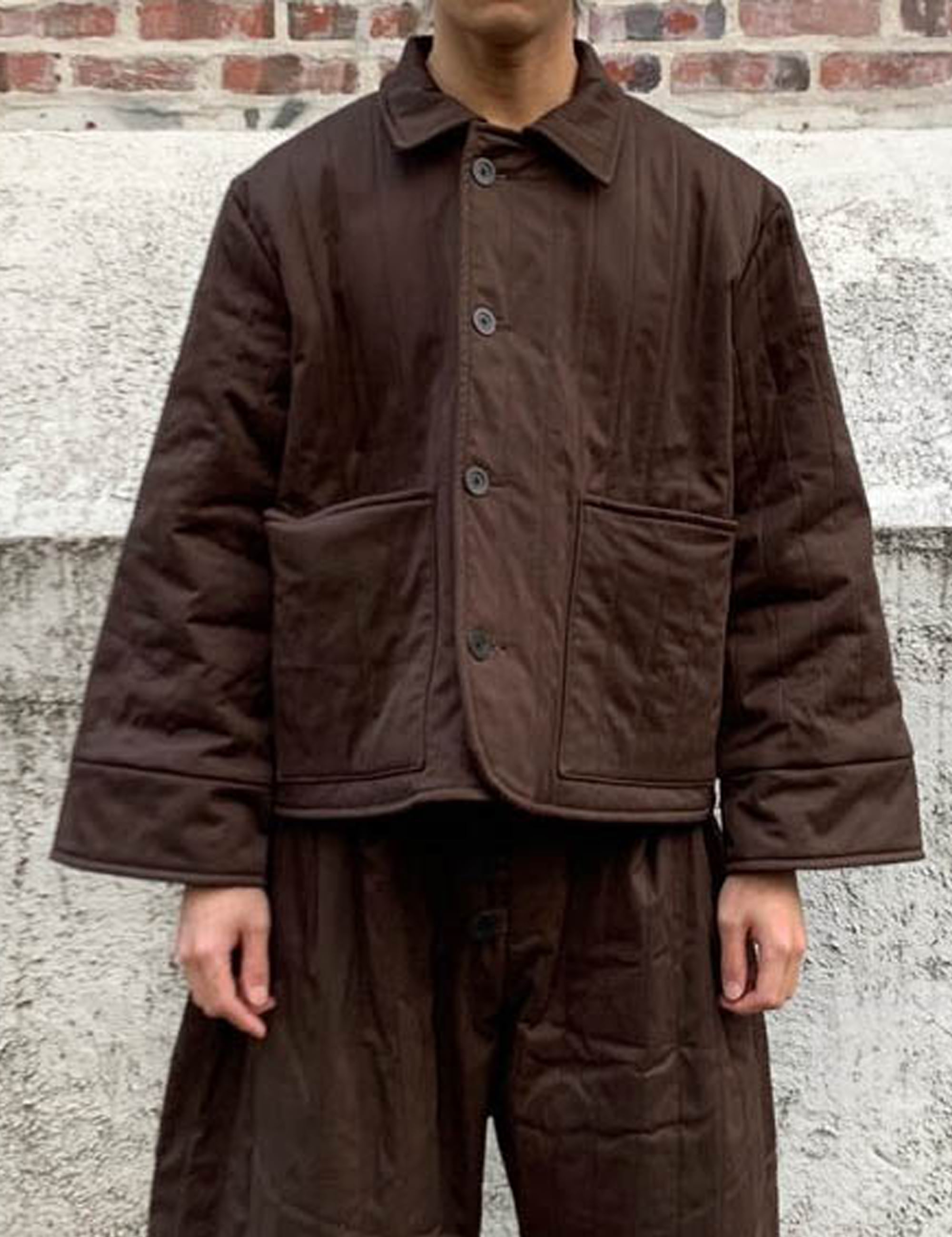[EXCLUSIVE] JANUARY JACKET_BROWN BRUSHED COTTON, QUILTED