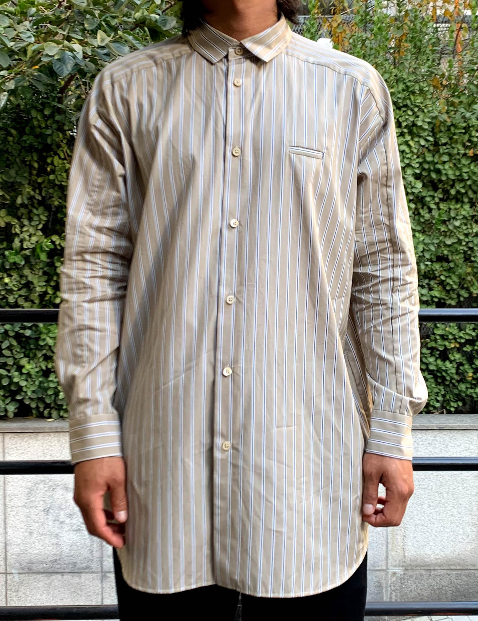 SHIRTS_BEIGE STRIPE
