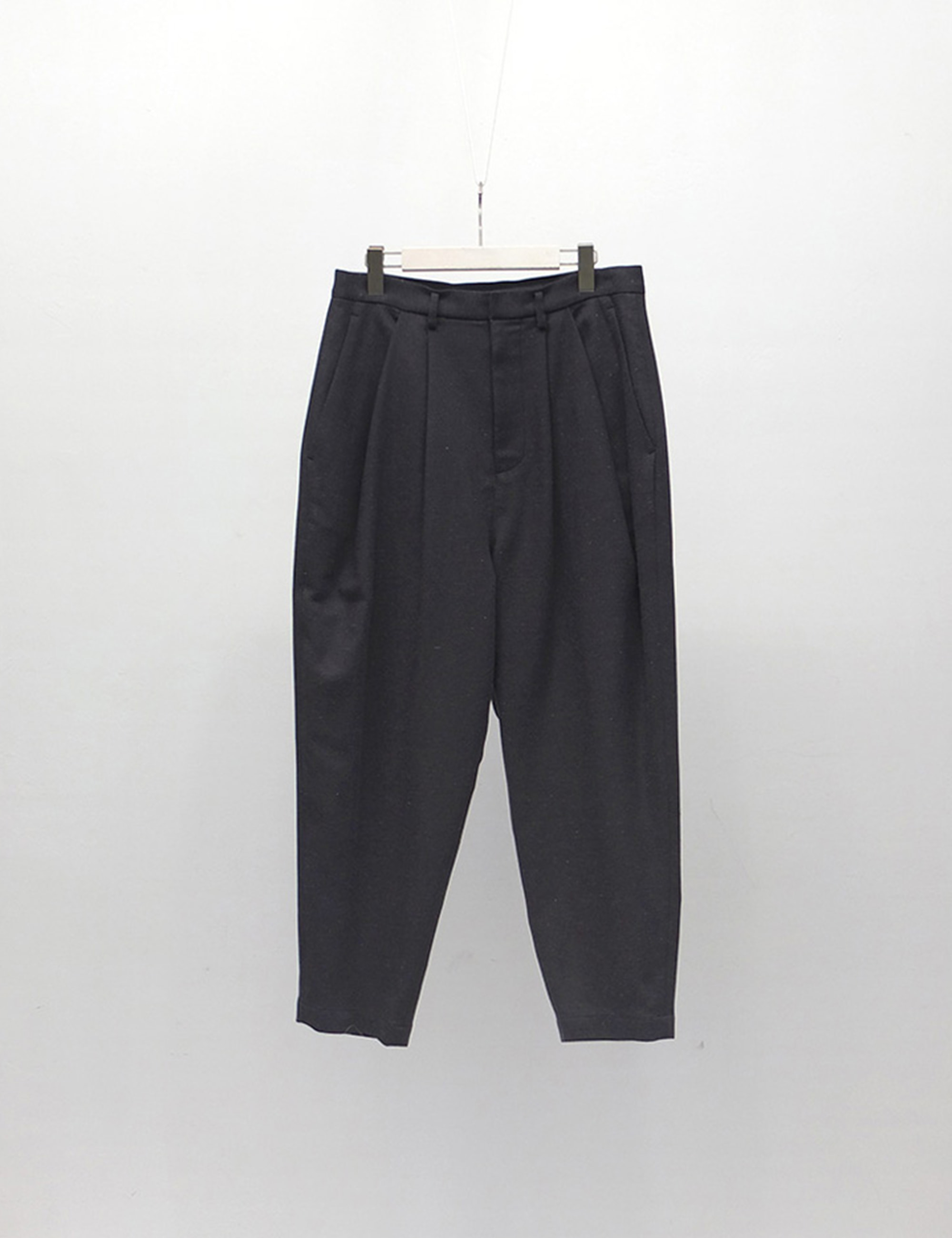 NEP TWILL PANTS_CHARCOAL GRAY