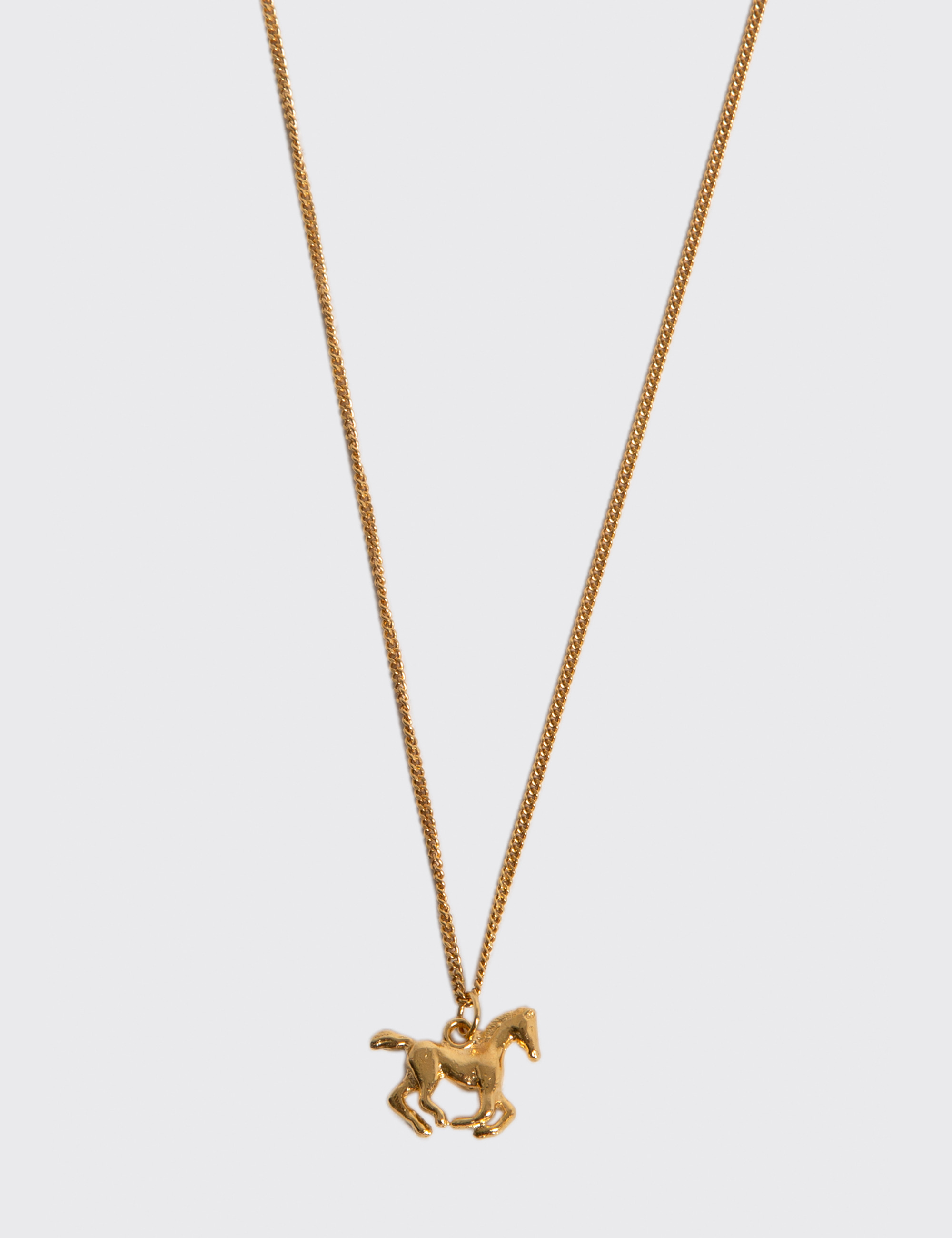 RUNNING HORSE PENDANT NECKLACE_GOLD