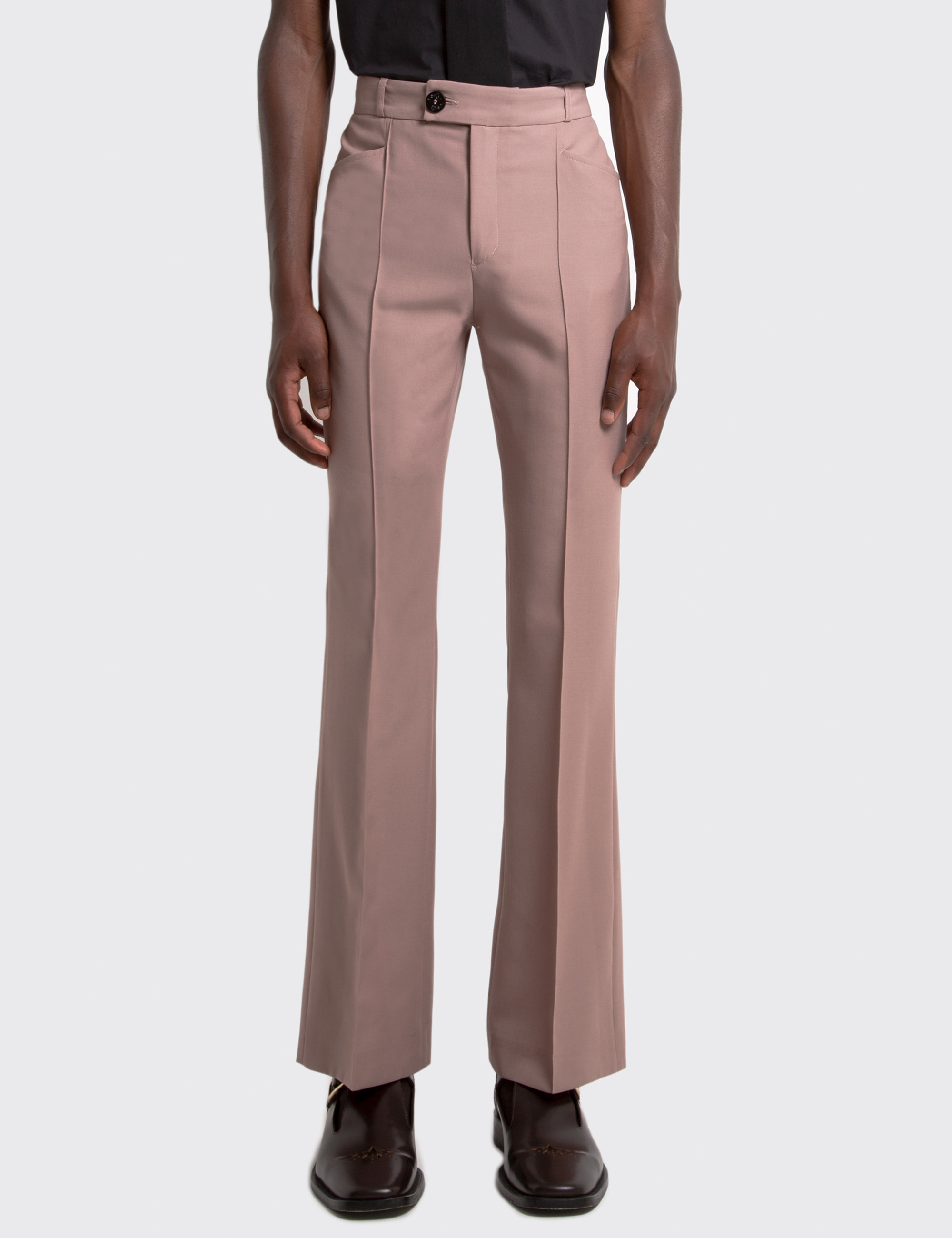 FLARE TROUSERS_PINK