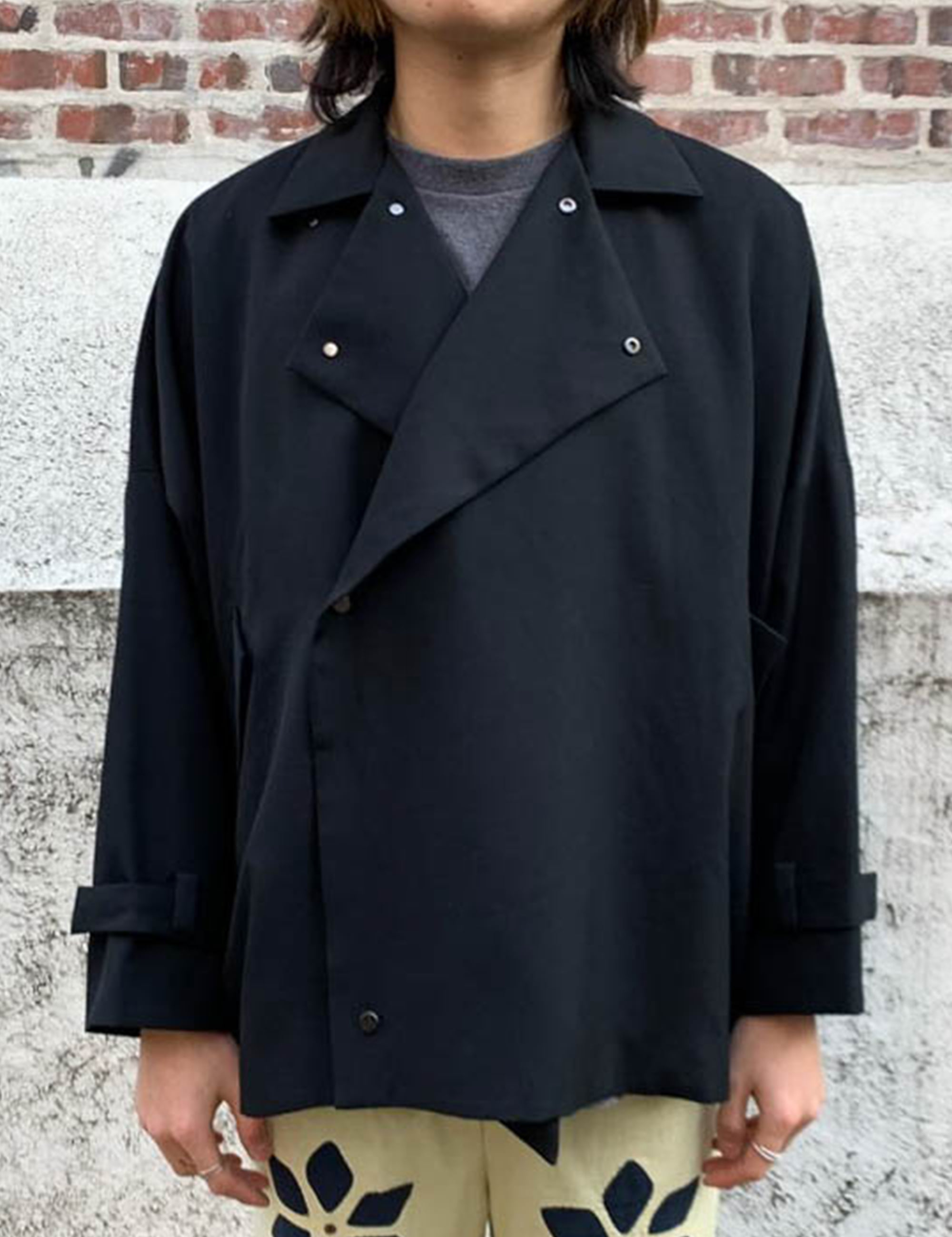 YOSOIKI SHORT COAT_BLACK
