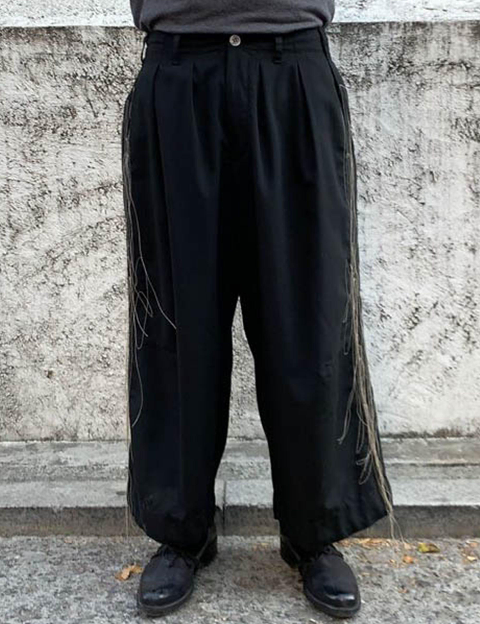 BAND WIDE SLACKS_BLACK