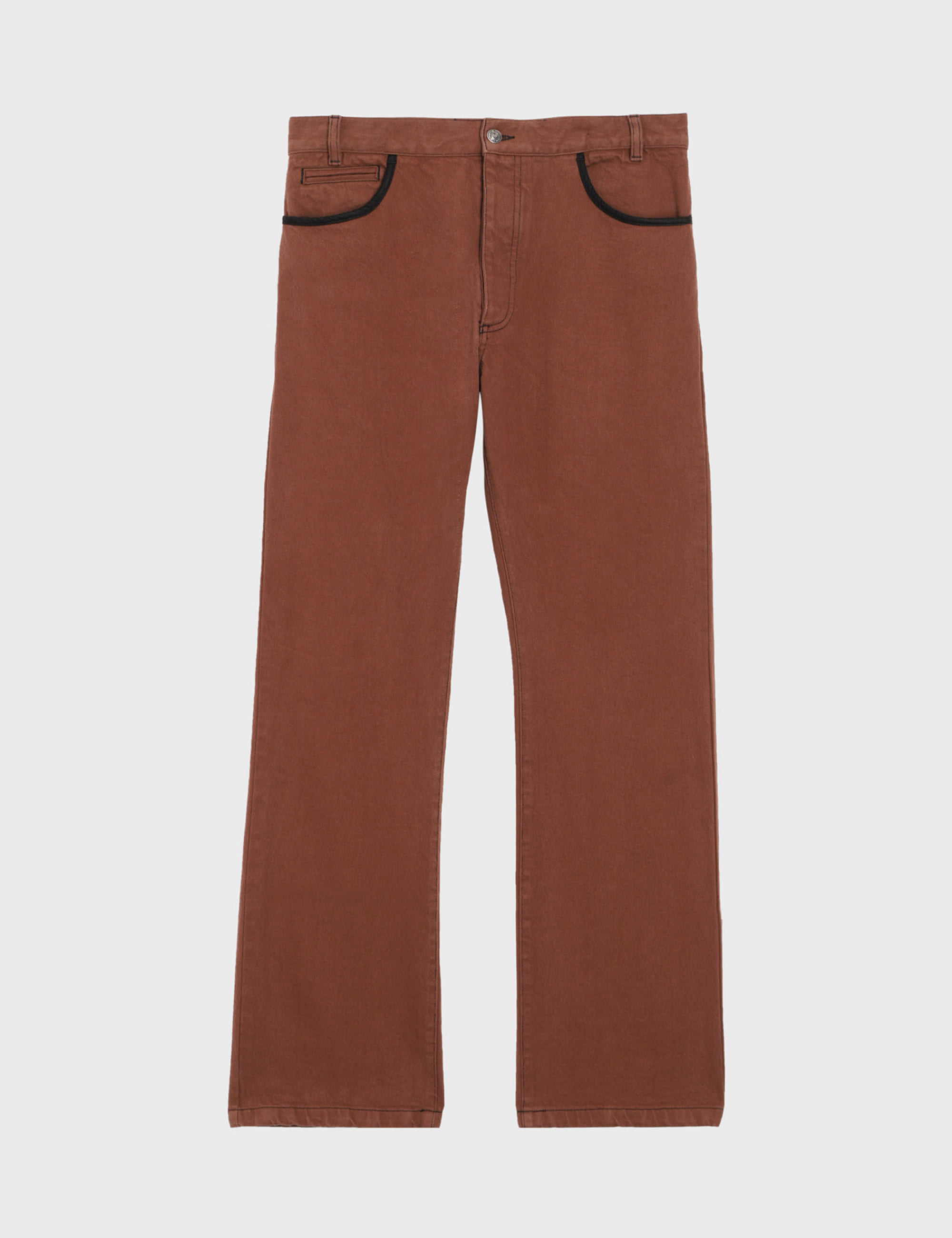 BOOT CUT JEANS_BROWN