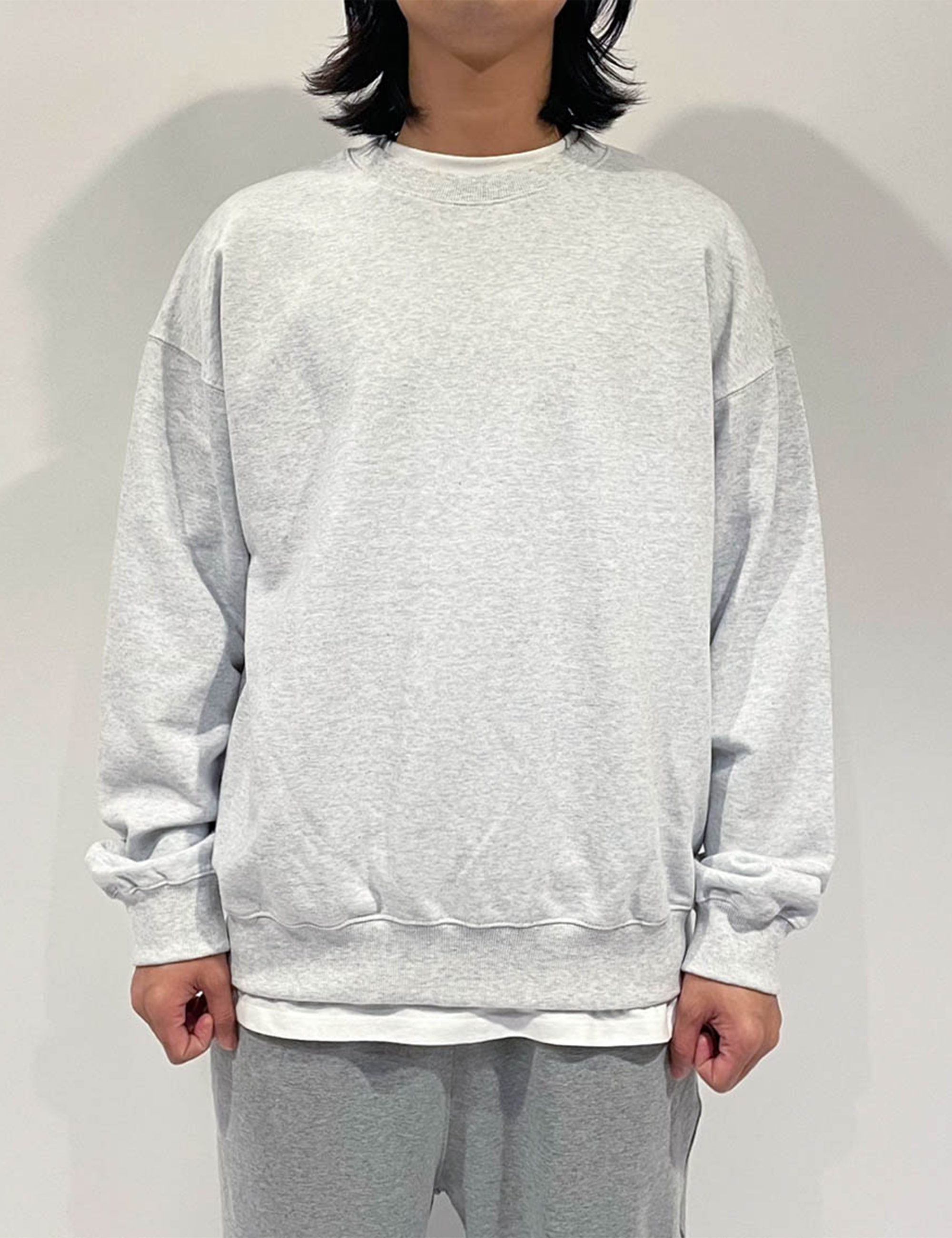 STANDARD SWEAT SHIRT _WHITE GRAY