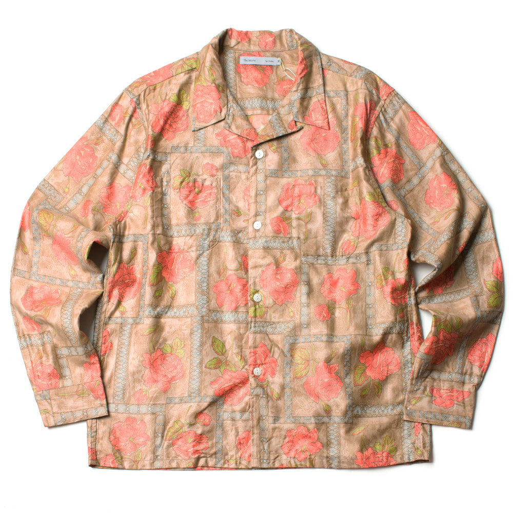 TORRANCE OPEN COLLAR SHIRTS_BEIGE