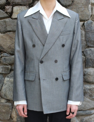 CLASSIC SUIT JACKET_GRAY STRIPE