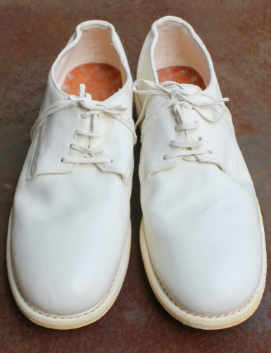 992 HORSE FULL GRAIN DERBY_WHITE