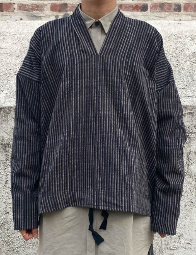SWEAT_STRIPED ORGANIC COTTON CLOTH