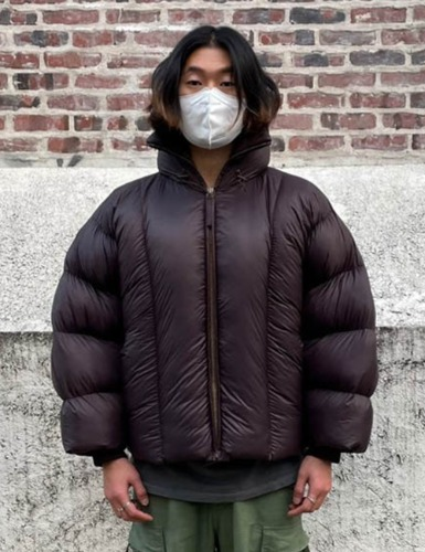 PUFFY JACKET_DARK BROWN