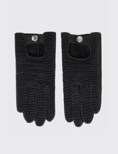 CROCHET GLOVES_BLACK