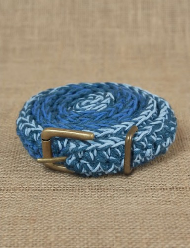 HAND CROCHET BELT_BLUE/INDIGO