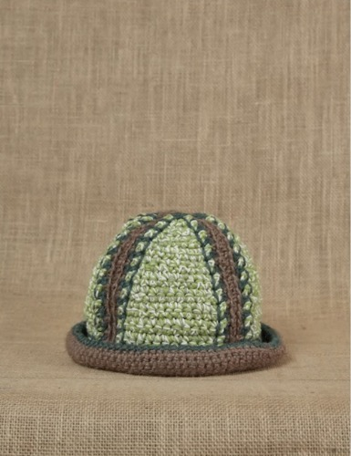HAND CROCHET BUCKET HAT_Green/Brown