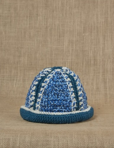 HAND CROCHET BUCKET HAT Blue/Indigo