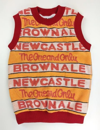 NEWCASTLE BROWN ALE BEER TOWEL GRANDDAD VEST