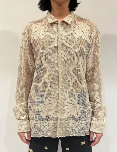 [EXCLUSIVE] ONE OF A KIND FILET LACE LONG SLEEVE SHIRTS