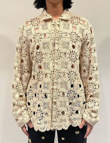 [EXCLUSIVE] ONE OF A KIND HEAVY CROCHET LONG SLEEVE SHIRT