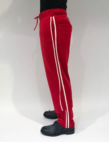 VELOR LINE PANTS_RED
