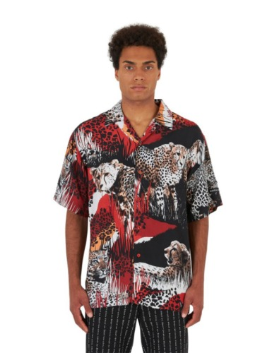ROMA LEOPARD SHIRT_RED