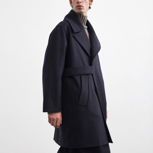 GHOST OVERSIZED WOOL COAT_DARK NAVY