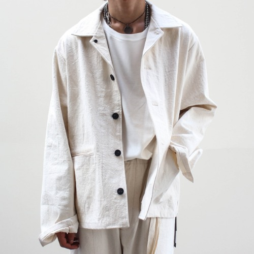 CANVAS JACKET_OFF WHITE