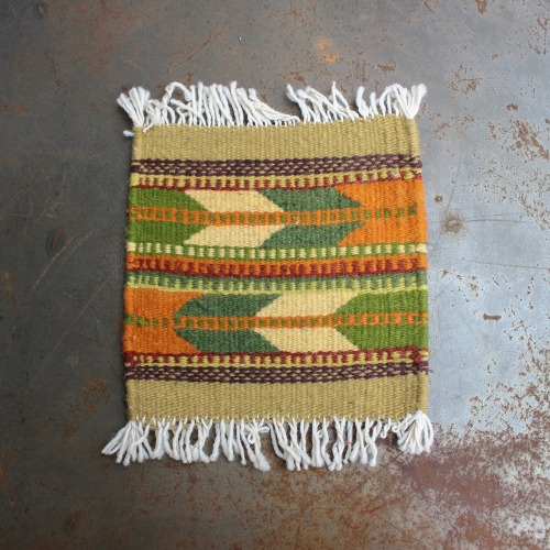 TIME TELL WORKS_TRIVET RUG MAT_GREEN