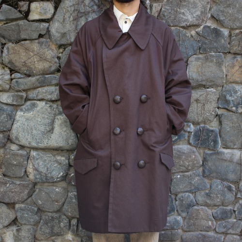 PEA COAT_DARK BROWN