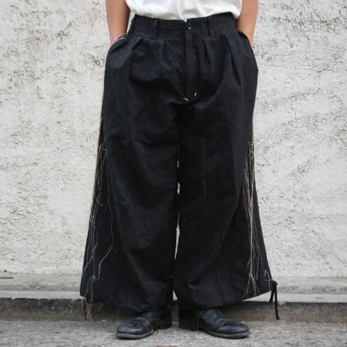 [EXCLUSIVE] BAND WIDE PANTS_BLACK