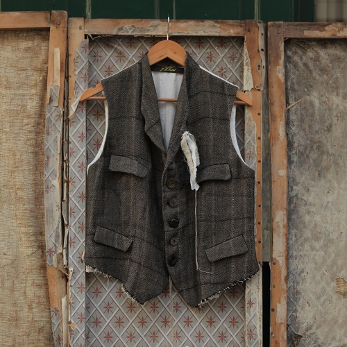 GILET_BLACK/BROWN