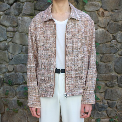 ZIP JACKET_TWEED