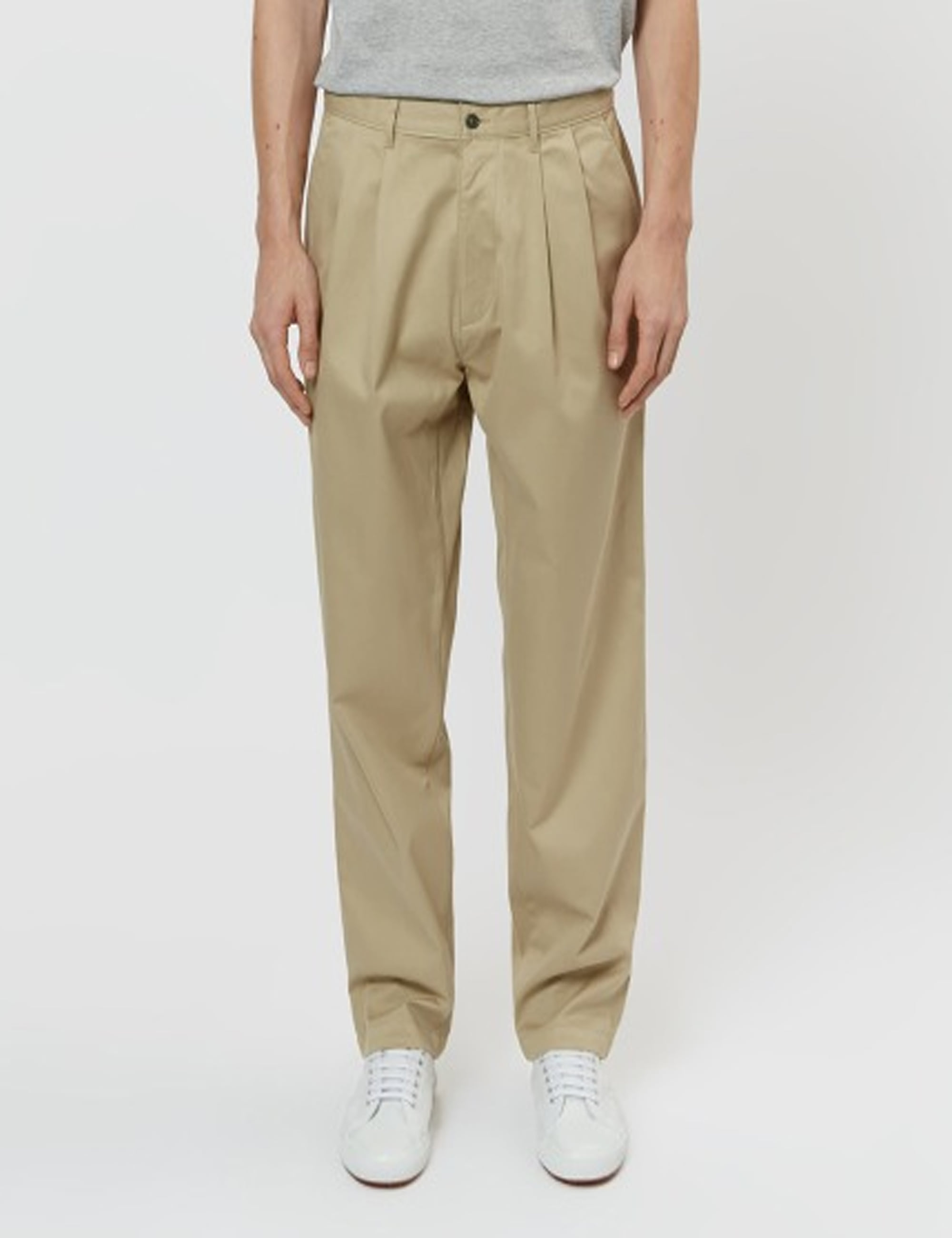 CORE PLEATED CHINO_KHAKI