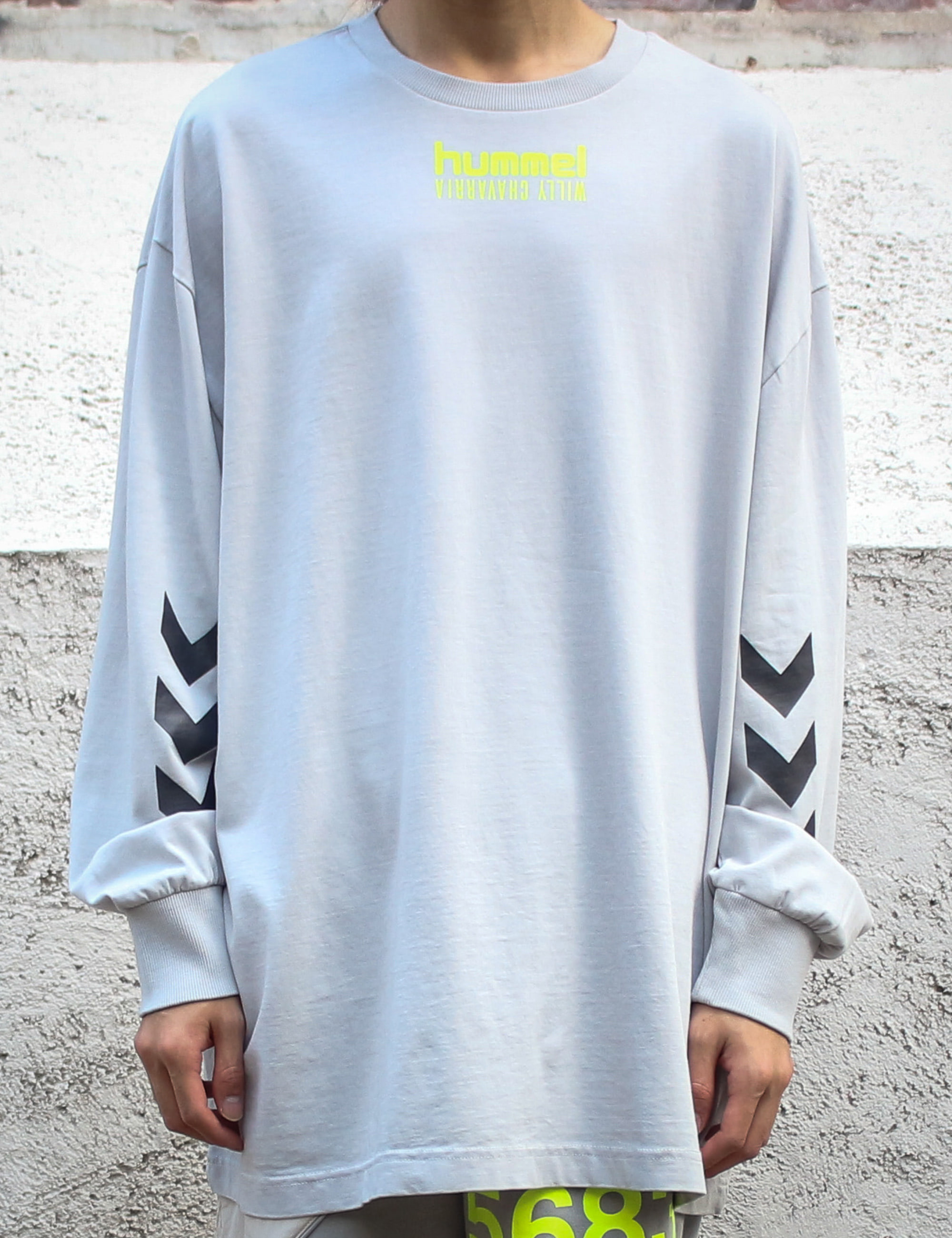 WILLY X HUMMEL BUFFALO T SHIRT L/S_HARBOR MIST