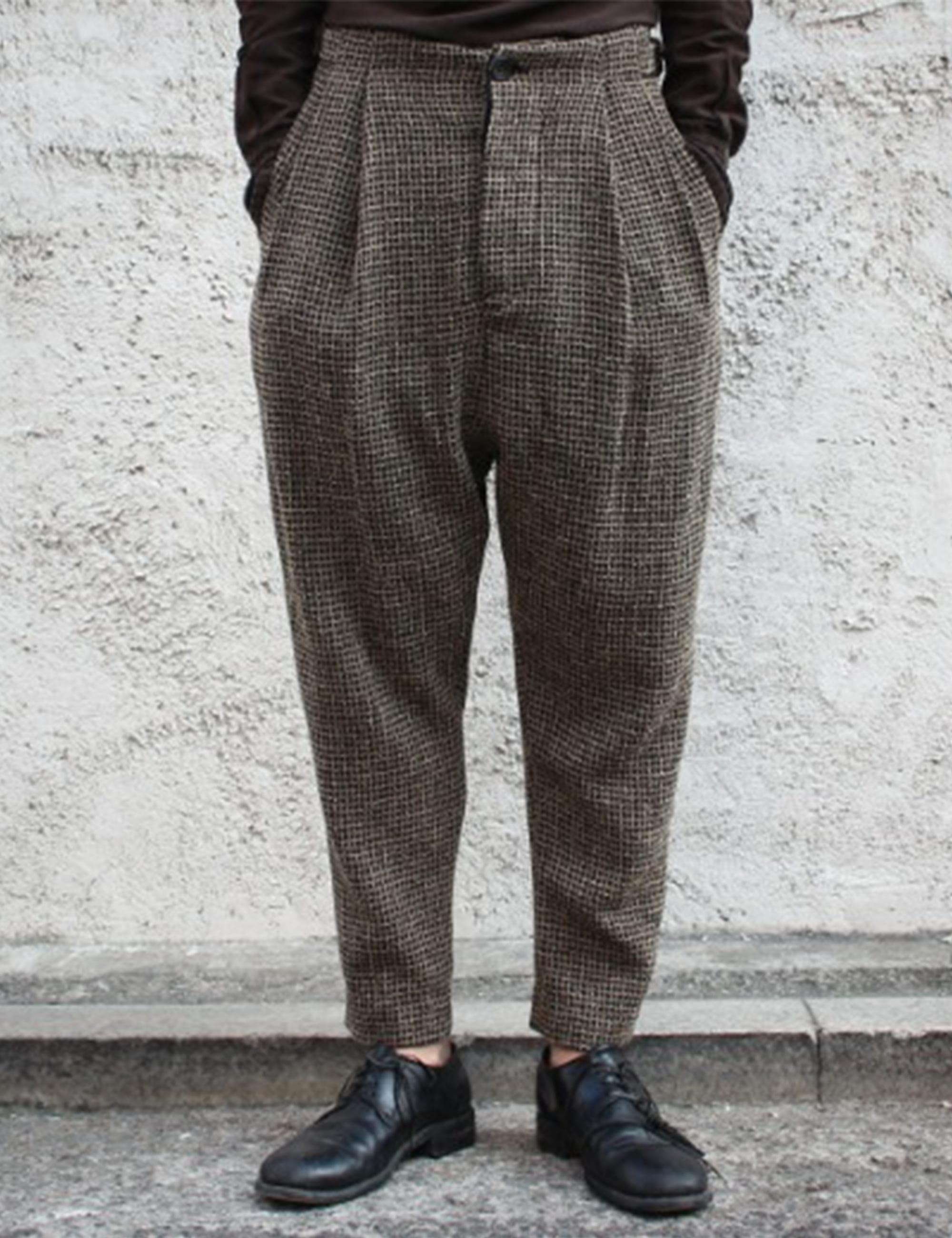 [EXCLUSIVE] SIDE CINCH TROUSERS_WOOL CREPE