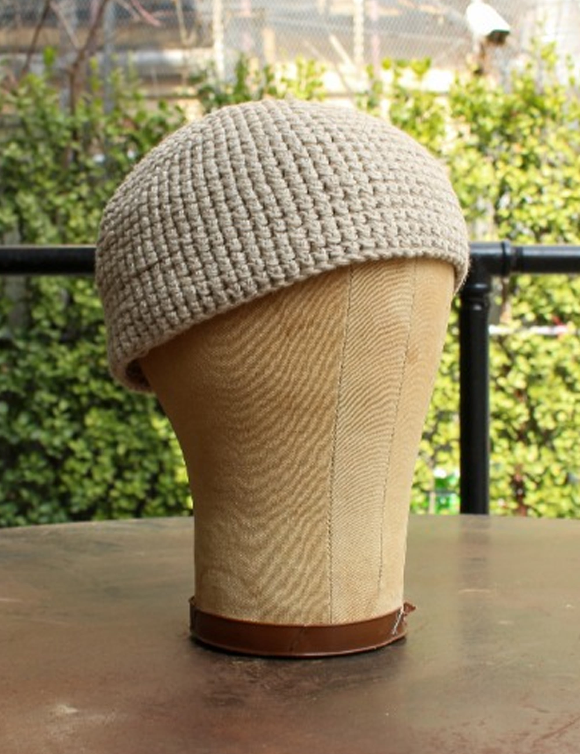BEANIE#7_NATURAL COTTON/LINEN