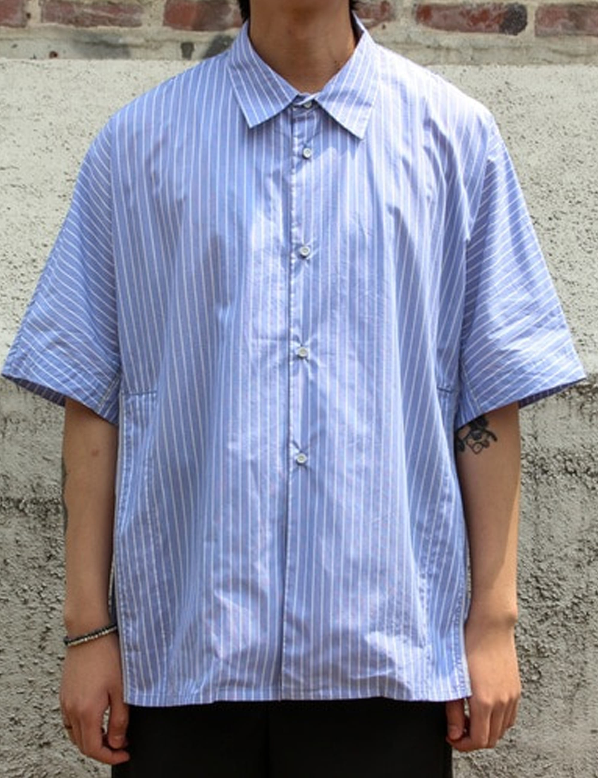 VENTED SHIRT_BOLD STRIPE