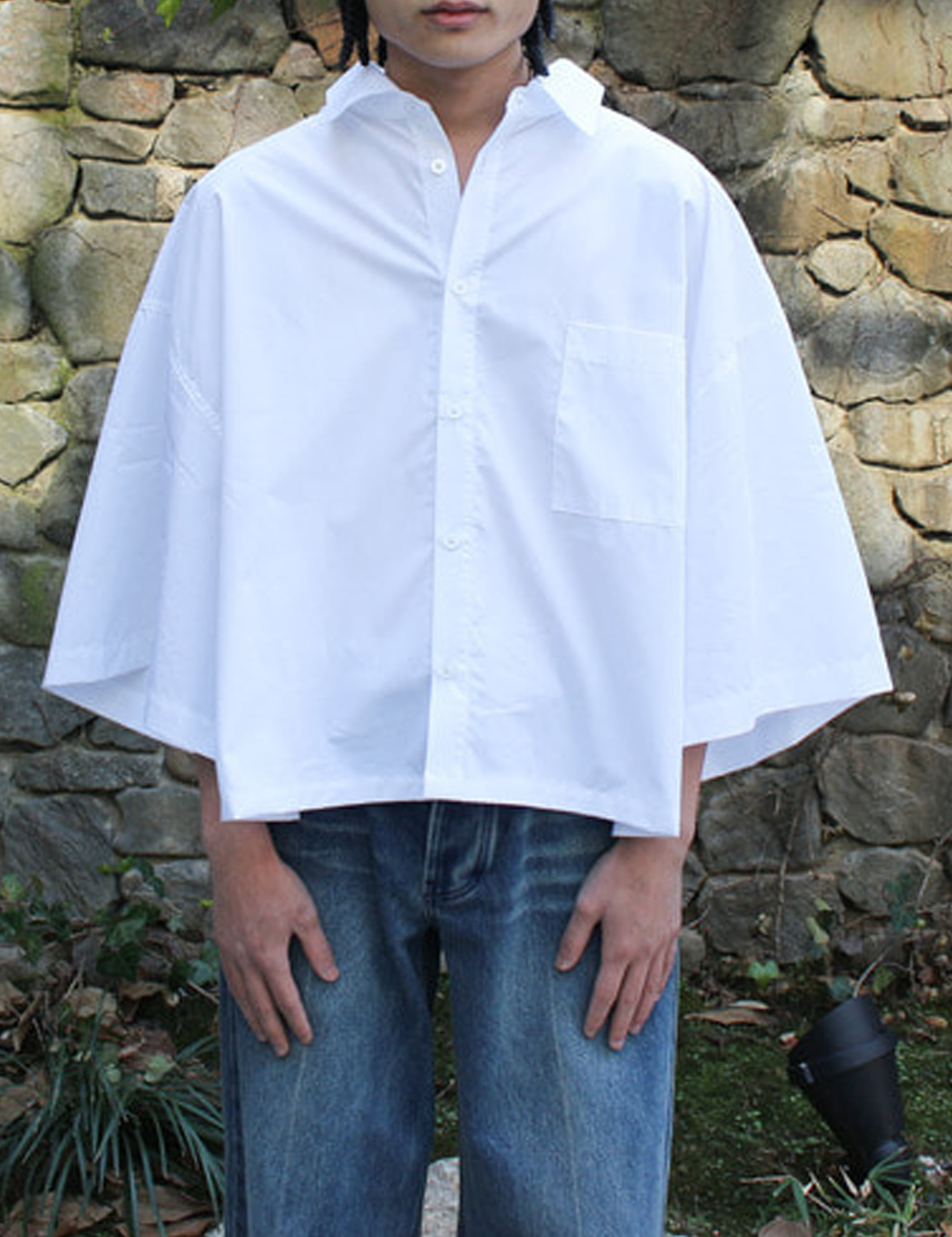 PIMA COTTON WORK SHIRT_WHITE