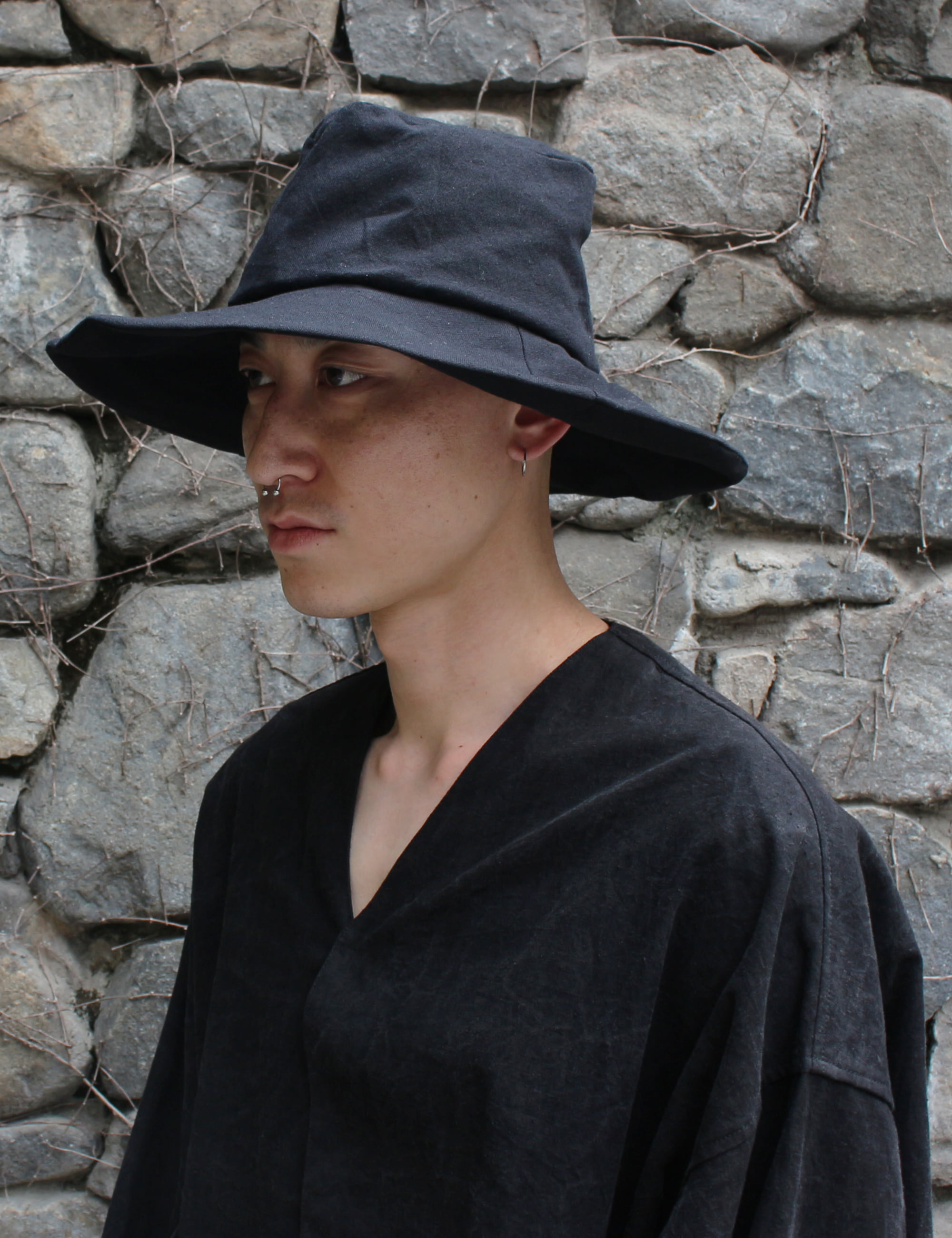 [EXCLUSIVE] HAND CRAFTED LARGE HAT_BLACK