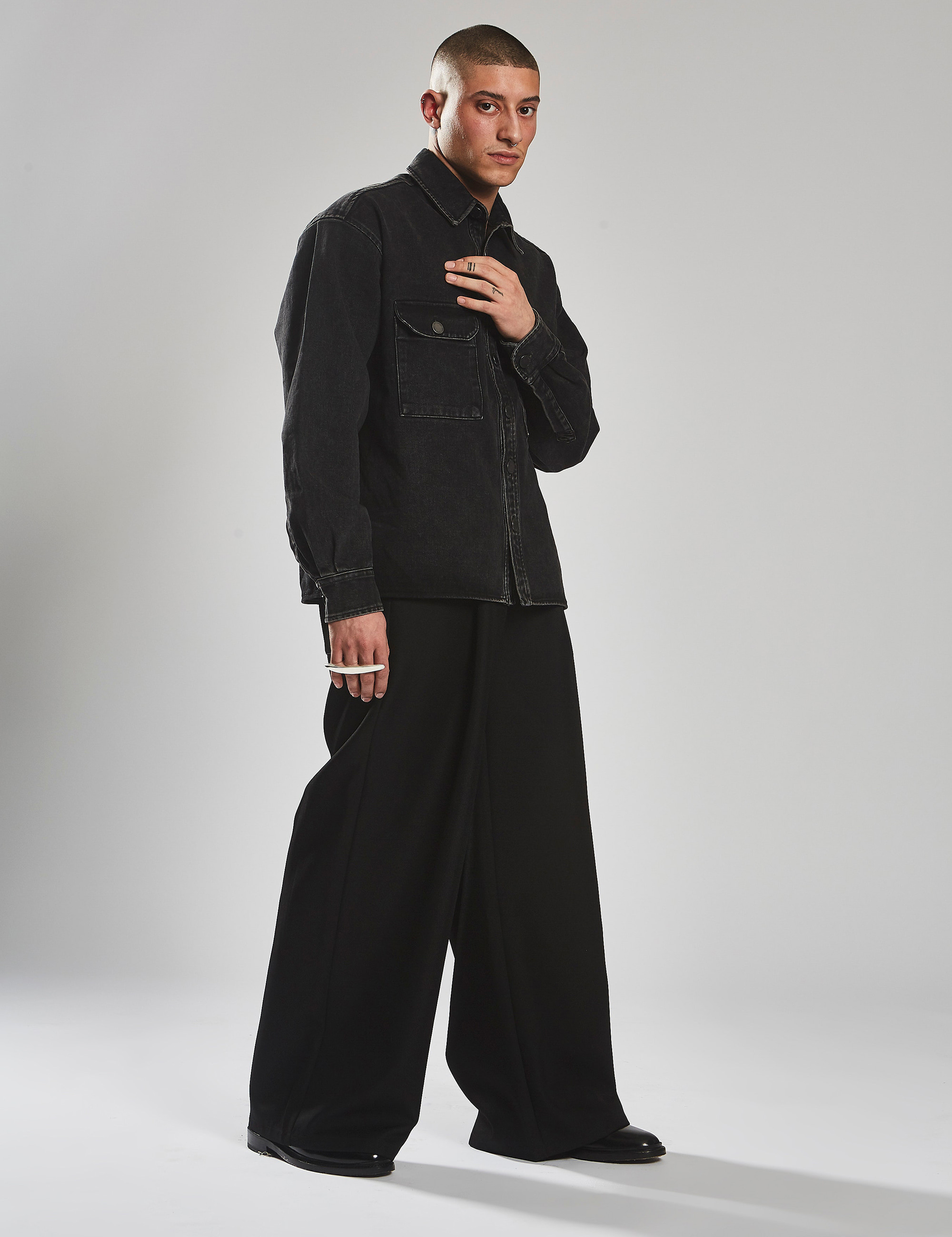 LAZY BOY WIDE LEG_BLACK