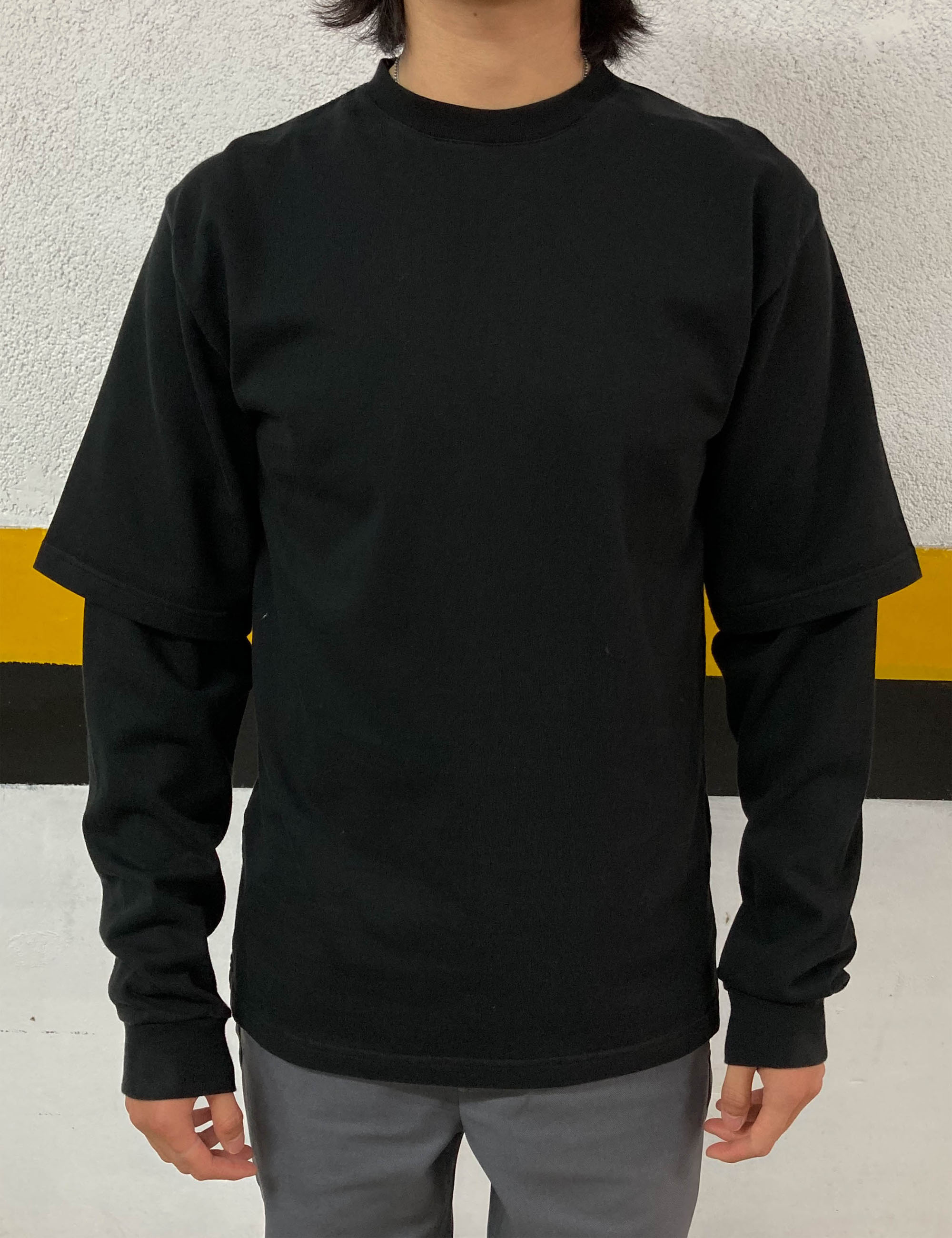 8OZ DOUBLE UTILITY BM T-SHIRT_BLACK