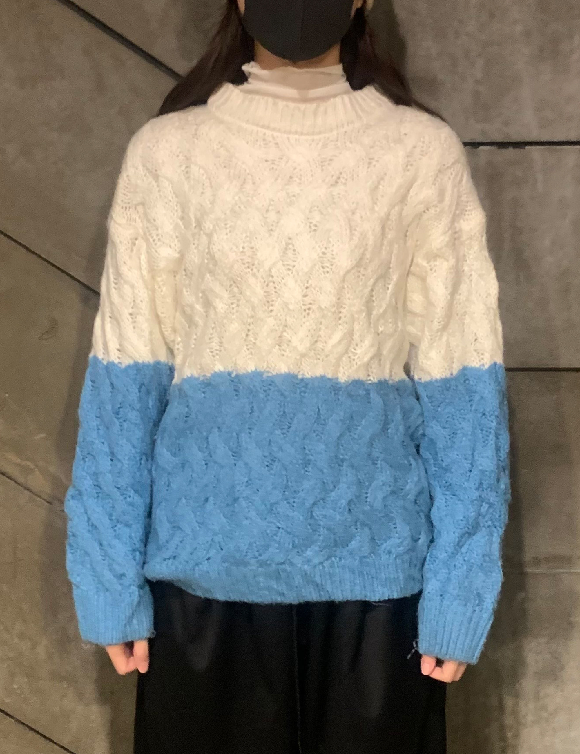 VINTAGE CONTRAST KNIT TOP