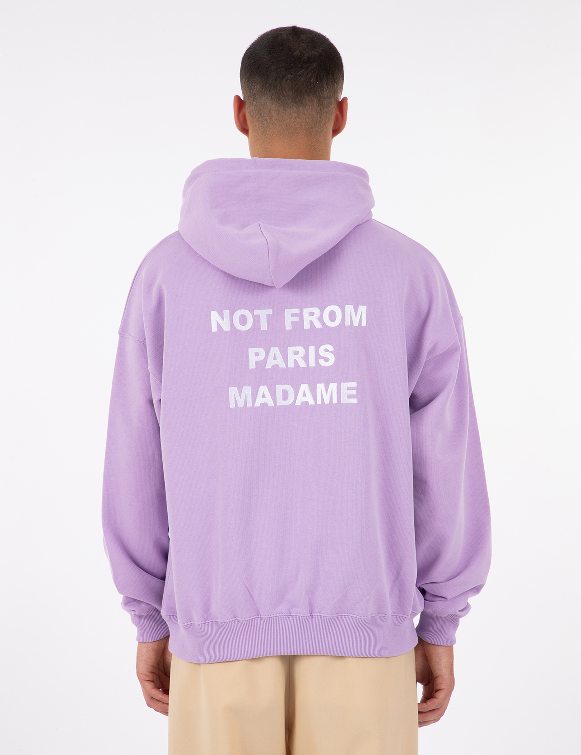 SLOGAN EMBROIDERED HOODIE_PURPLE